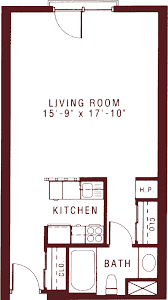 Studio Floor Plans Senior Studio Apartments See Floor Plans And Features