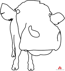 closeup of cow face outline clipart free clipart design download