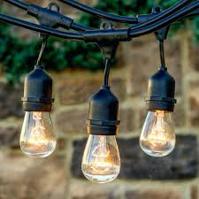 Patio String Lights White Cord by Outdoor Vintage String Lights Outdoor Patio String Bulb Lights