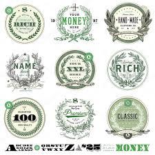 vector money badge set stock vector createfirst 66121219
