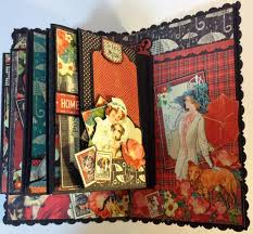 Dog Scrapbook Album Annes Papercreations How To Make A 6 X 4 Flip Mini Album From