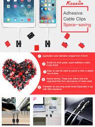 amazon com kedsum 200pcs adhesive cable clips wire clips car