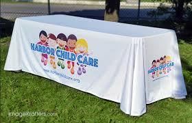 8 ft table cloth with logo table cloth cover printing custom printed 6 8ft table throws