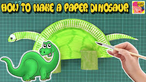 how to make a paper plate dinosaur diy craft ideas for kids