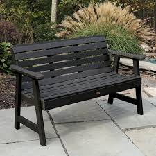 highwood weatherly commercial grade 5ft synthetic wood garden bench
