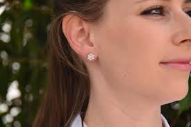 diamond earrings on sale 1 20 carat gold diamond earrings 14k white gold earrings stud