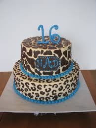 sweet 16 animal print u0026 turquoise cakecentral com