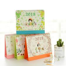 papeterie bureau 2018 mini table calendriers planificateur de bureau fille