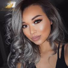 can ypu safely bodywave grey hair cheap 3pcs with closure ombre silver body wave brazilian grey hair