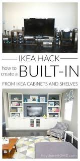 Billy Bookcase Hack Built In 54 Ikea Billy Bookcase Hacks Comfydwelling Com Living Room