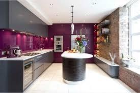 cuisine grise et aubergine couleur aubergine et gris meuble cuisine couleur aubergine