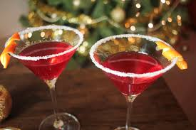 martini champagne rose christmas martini recipe globe scoffers