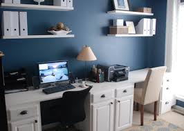 Wooden Desk With Shelves Contemporary Home Office Desks With Modern White Curve Desk Blue