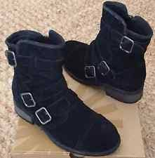 ugg womens finney boots black ugg australia buckle comfort medium b m boots for ebay