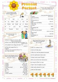 82 free esl present perfect tense for or since worksheets