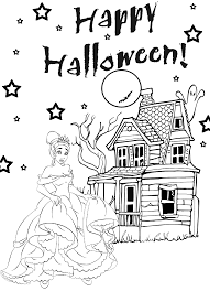 Halloween Coloring Pages Online by Princess Halloween Coloring Pages For Kids Hallowen Coloring