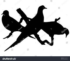 abstract artwork black silhouette bird clipart stock illustration