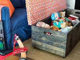 How Do You Make A Wooden Toy Box by Make A Herringbone Wood Toy Box Storage Ottoman Hgtv