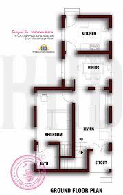 Ground Floor Plan For 1000 Sq Feet Surprising 6 Cent Home Plans 15 House Apartment Exterior Design