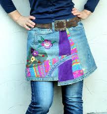 Upcycle Leggings - blue rose fantasy dress tunic by jamfashion on etsy fashion