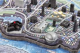 Map Of Gotham City 4d Mini Batman Gotham City 4d Puzzle Puzzlewarehouse Com