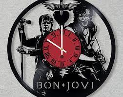 bon jovi vinyl clock etsy
