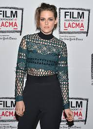 stewart jumpsuits kristen stewart forces a smile at lacma screening amid robert