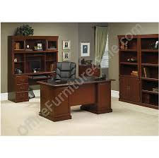 picture of sauder heritage hill double pedestal desk