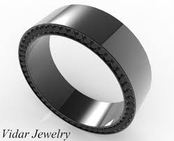mens wedding bands with diamonds unique black gold men s wedding band with black diamonds vidar