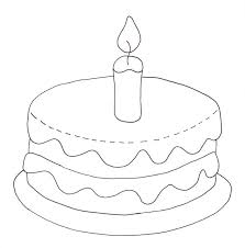 Birthday Cake Coloring Page Wee Folk Art Birthday Cake Coloring Pages
