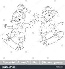 skateboarding one baby skater on stock vector 301316864