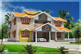 home design kerala two story modern contemporary tropical home