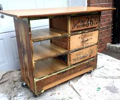 rustic kitchen islands and carts dresser turned into rustic kitchen island cart 6 steps with