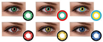 freshgo selling yellow red blue color contact lenses manga