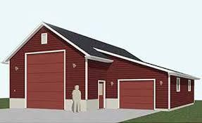 Plans Rv Garage Plans by Automotive Lift One Story Garage Plans D No 1760 Rv1 40 U0027 X 48