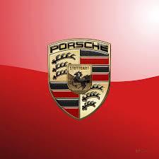 stuttgart porsche logo porsche 3d badge on red digital art by serge averbukh