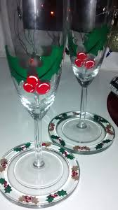 915 best hand painted christmas wine glasses images on pinterest