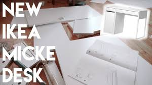 ikea masa building the ikea micke desk by myself youtube