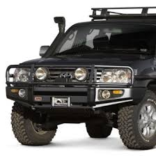 toyota land cruiser bumper 2003 toyota land cruiser custom 4x4 road steel bumpers carid com