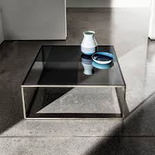 Designer Coffee Tables by Contemporary Coffee Table Glass Lacquered Metal Square
