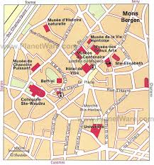 belgium city map mons map