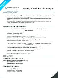 security officer resume security officer cv security guard resume sle doc casino cover