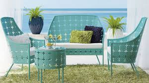 Turquoise Patio Chairs Furniture Awesome Outdoor Living Space With Turquoise Metal Patio