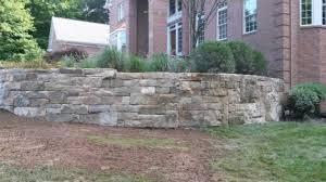 Breezewood Gardens Chagrin Falls - barn stone retaining wall breezewood gardens