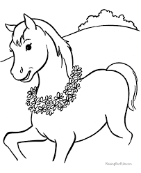 horse flowers coloring pages coloring