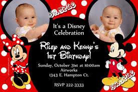 mickey mouse birthday invitations mickey mouse and minnie mouse ears birthday invitation