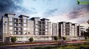3d apartment the modern luxurious 3d apartment building exterior rendering