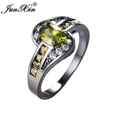 black fashion rings images Junxin peridot oval ring fashion women fashion store jpg