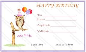 free birthday gift certificate template diy birthday gifts
