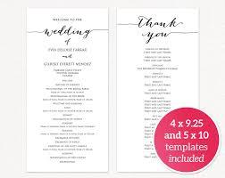program for wedding template wedding program templates wedding templates and printables